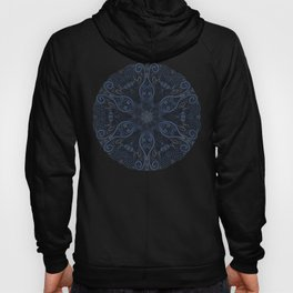 Blue Ornate Pattern with 3D effect Hoody