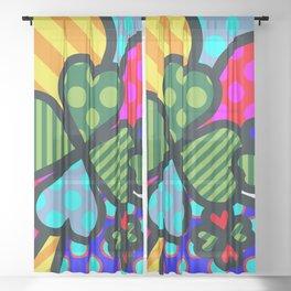 Lucky Cloverleaf XL Sheer Curtain