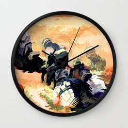 Leading the Pack  - Motocross Racers Wall Clock