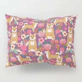 Shiba Inu dog floral pet gifts must haves shiba inus dog breeds pure bred Pillow Sham
