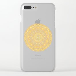 Mandala 13 / 1 yellow Citrine Clear iPhone Case
