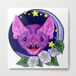 Vampire Bat night sky Metal Print