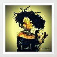 Cruella cat Art Print
