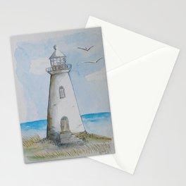 White Lighthouse Stationery Cards