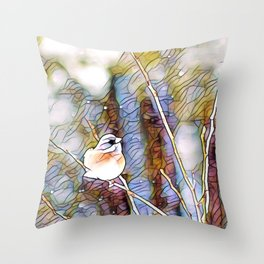 Junco Pastel Multi by CheyAnne Sexton Throw Pillow