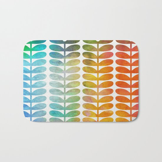 Colorful Leaves from Blue to Orange Bath Mat