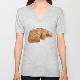 baked graham bread rolls Unisex V-Neck