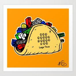 Lego Taco Art Print