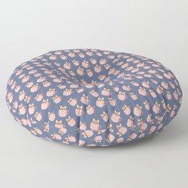 Cute Little Corgi in the Coffee Mug Pattern Floor Pillow