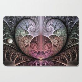 Abstract Heart, Fractal Art Cutting Board