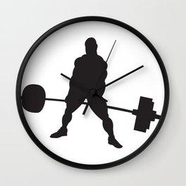 Powerlifter Deadlift Wall Clock
