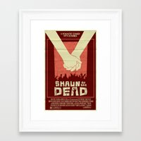 shaun of the dead Framed Art Prints featuring Shaun of the Dead by Mark Welser