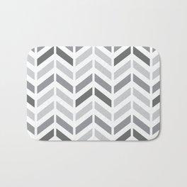 Chevron Grey Small Pattern Bath Mat