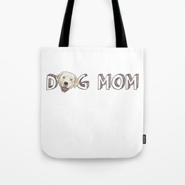 Dog Mom With A Labrador Retriever Tote Bag