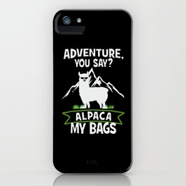 Alpaca My Bags  Travelling iPhone Case