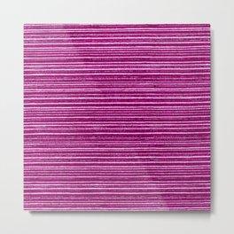 Magenta pink modern geometrical stripes pattern Metal Print