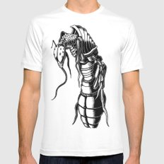Aardvark Ant White Mens Fitted Tee SMALL
