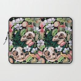 Watercolour Carnivorous Plants and Skulls Laptop Sleeve