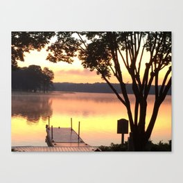 Dock at Sunrise Canvas Print