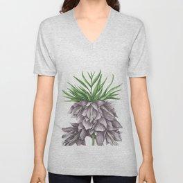 Fritillaria Lavendar Unisex V-Neck