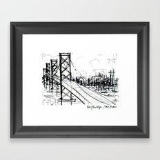 SF Bay Bridge Framed Art Print