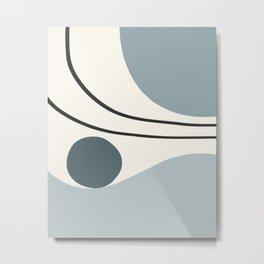 Seascapes I // Abstract Minimal Metal Print