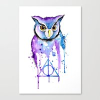 hedwig Canvas Prints featuring Hedwig by Simona Borstnar