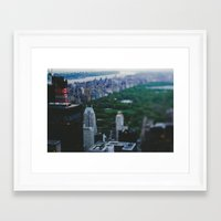 central park Framed Art Prints featuring Central Park by Chelsea Victoria