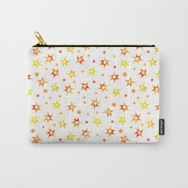 Sun Burst Flowers Pattern Carry-All Pouch