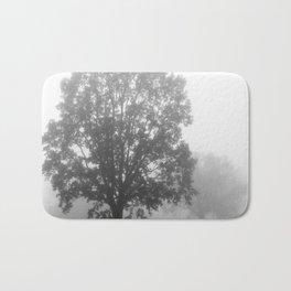 Trees on a Misty Morning Bath Mat