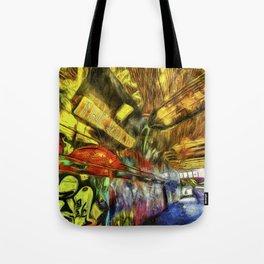 London Graffiti Van Gogh Tote Bag