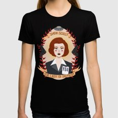 Dana Scully Womens Fitted Tee MEDIUM Black