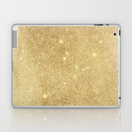 Elegant stylish faux gold glitter Laptop & iPad Skin