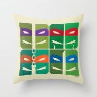 tmnt Throw Pillows featuring TMNT by Szoki