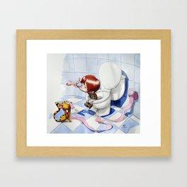 In the intimacy Framed Art Print