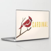 cardinal Laptop & iPad Skins featuring Cardinal by Jess Mass Design