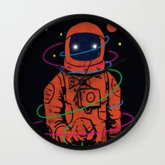 Circles In SPACE Wall Clock