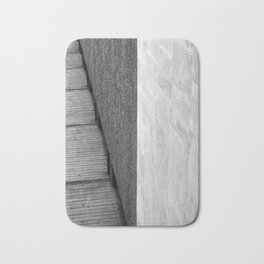 brutalist abstract concrete angles Bath Mat