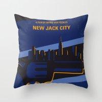 No762 My New Jack City minimal movie poster Throw Pillow