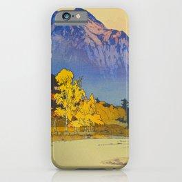 Vintage Japanese Woodblock Print American Landscape Hiroshi Yoshida iPhone Case