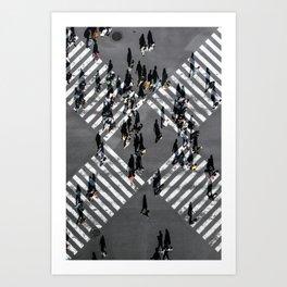 Tokyo Shibuya Crossing Art Print