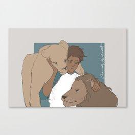 Little Lion Lance Canvas Print
