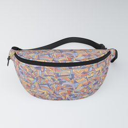 Party in Orange and Blue Fanny Pack