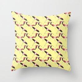 Flamingo Fly Throw Pillow