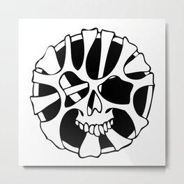 chewing skull Metal Print