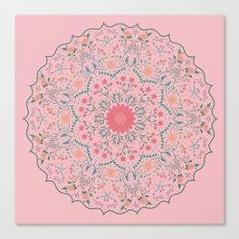 Flower Rounds Mandala Canvas Print