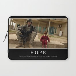 Hope: Inspirational Quote and Motivational Poster Laptop Sleeve