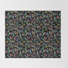 fairytale meadow pattern Throw Blanket