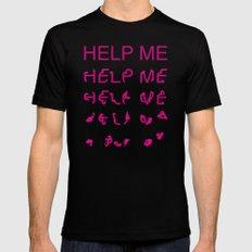 Help Me - Folding type Black Mens Fitted Tee MEDIUM