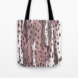 Rose and Dark Violet Tote Bag